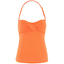Buy Fat Face Textured Twist Front Tankini Top, Orange Online at johnlewis.com