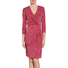 Buy Gina Bacconi Floral Print Crepe Jersey Dress, Pink Online at johnlewis.com