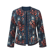 Buy East Anokhi Amrita Quilted Jacket, Indigo Online at johnlewis.com
