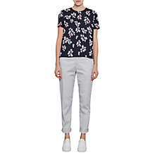 Buy French Connection Eva Crepe Top, Utility Blue Online at johnlewis.com