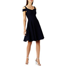 Buy Coast Ava Structured Short Dress, Navy Online at johnlewis.com