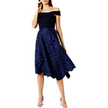 Buy Coast Velerie Artwork Midi Dress, Navy Online at johnlewis.com