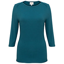 Buy East Jersey Shoulder Seam Top, Teal Online at johnlewis.com