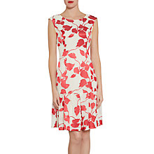 Buy Gina Bacconi Linen Effect Burnout Dress, Red/Cream Online at johnlewis.com