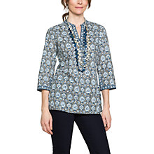 Buy East Sureka Print Blouse, Dove Online at johnlewis.com