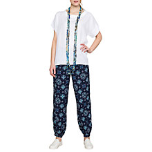 Buy East Romana Print Harem Trousers, Navy Online at johnlewis.com