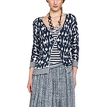 Buy East Smudged Animal Print Two In One Top, Calico Online at johnlewis.com