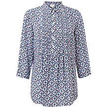 Buy East Sonali Print Pintuck Blouse, Brick Online at johnlewis.com