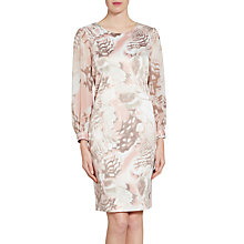Buy Gina Bacconi Abstract Print Dress, Taupe/Blush Online at johnlewis.com