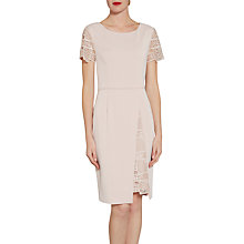 Buy Gina Bacconi Mosaic Sequin Embroidery And Crepe Dress, Apricot Crush Online at johnlewis.com