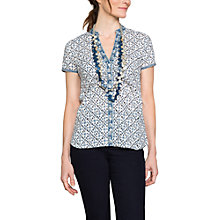 Buy East Sonali Print Blouse, Sapphire Online at johnlewis.com