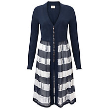 Buy East Printed Combination on Cardigan, Smoke Online at johnlewis.com