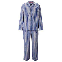 Buy John Lewis Rohini Satin Stripe Pyjamas, Blue Online at johnlewis.com