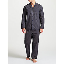Buy John Lewis Sunshine Poplin Pyjamas, Navy Online at johnlewis.com
