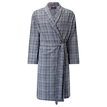 Buy John Lewis Delhi Brushed Cotton Check Robe, Grey Online at johnlewis.com