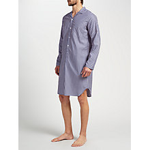 Buy John Lewis Cotton Stripe Nightshirt, Navy/Red Online at johnlewis.com