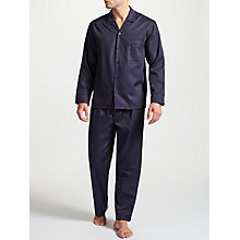 Buy John Lewis Premium Satin Stripe Pyjamas, Purple Online at johnlewis.com