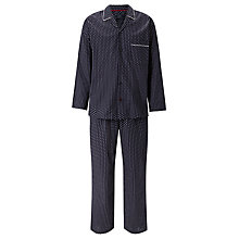 Buy John Lewis Indian Block Print Cotton Pyjamas, Navy Online at johnlewis.com