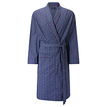 Buy John Lewis Vintage Hexagon Print Cotton Robe, Blue Online at johnlewis.com