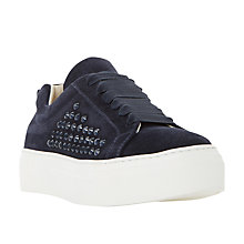 Buy Dune Black Enchanted Embellished Trainers Online at johnlewis.com