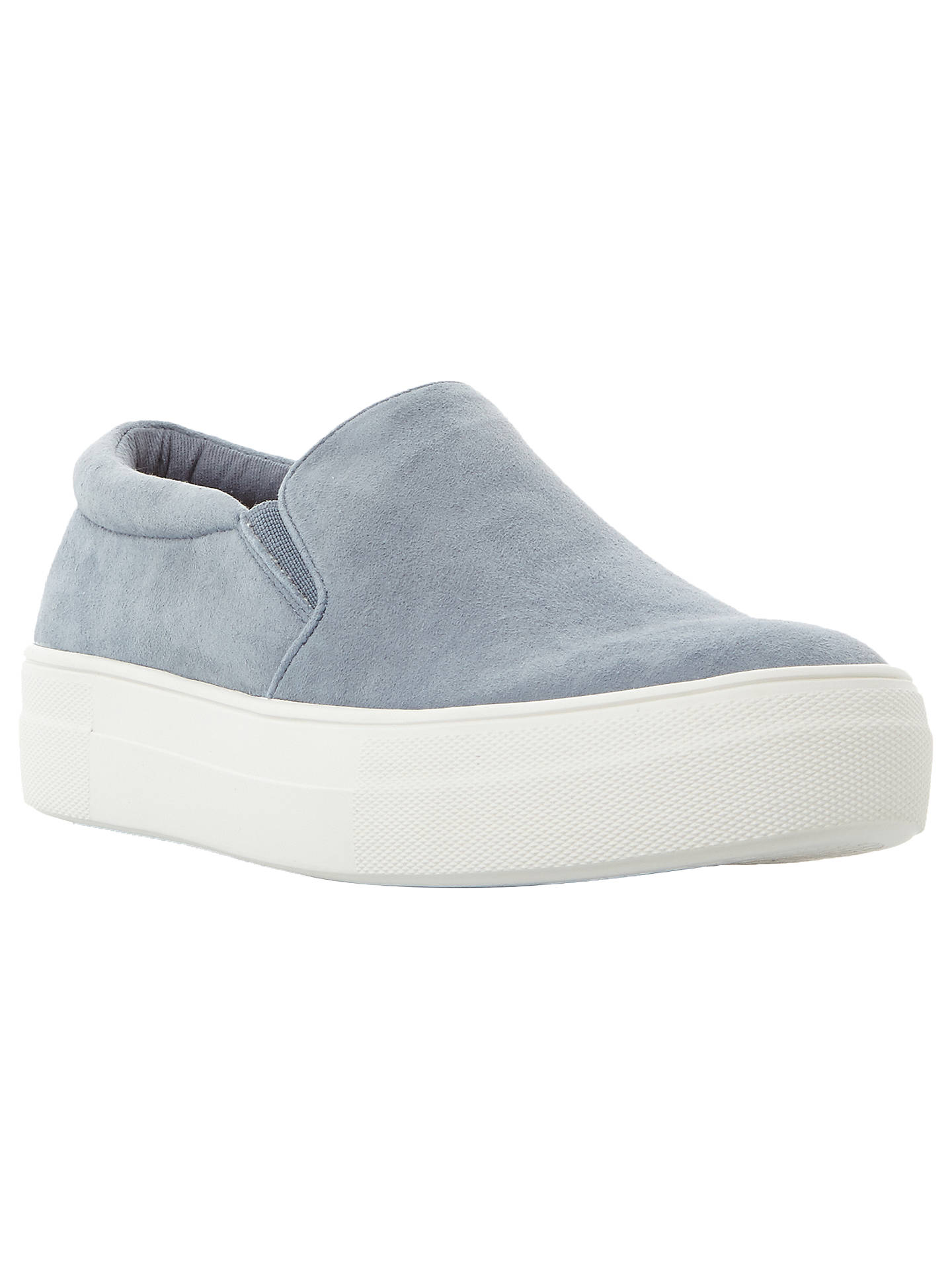 e334dd38c7478 Buy Steve Madden Gills Suede Flatform Slip On Trainers, Blue, 6 Online at  johnlewis ...