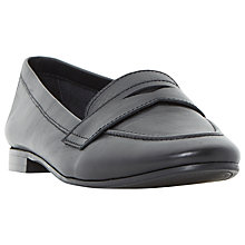 Buy Dune Galer Loafers, Black Online at johnlewis.com