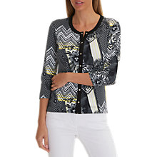 Buy Betty Barclay Lattice Floral Print Cardigan, Black/Multi Online at johnlewis.com