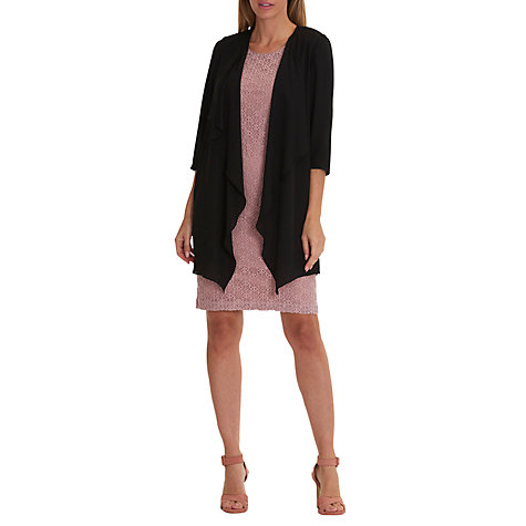 Buy Betty Barclay Chiffon Waterfall Cardigan, Black | John Lewis