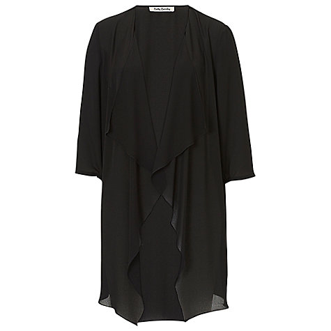 Buy Betty Barclay Chiffon Waterfall Cardigan, Black Online at johnlewis.com