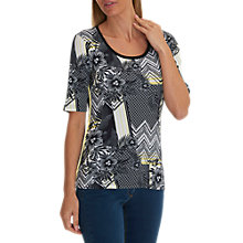 Buy Betty Barclay Lattice Floral Print T-Shirt, Black/Multi Online at johnlewis.com