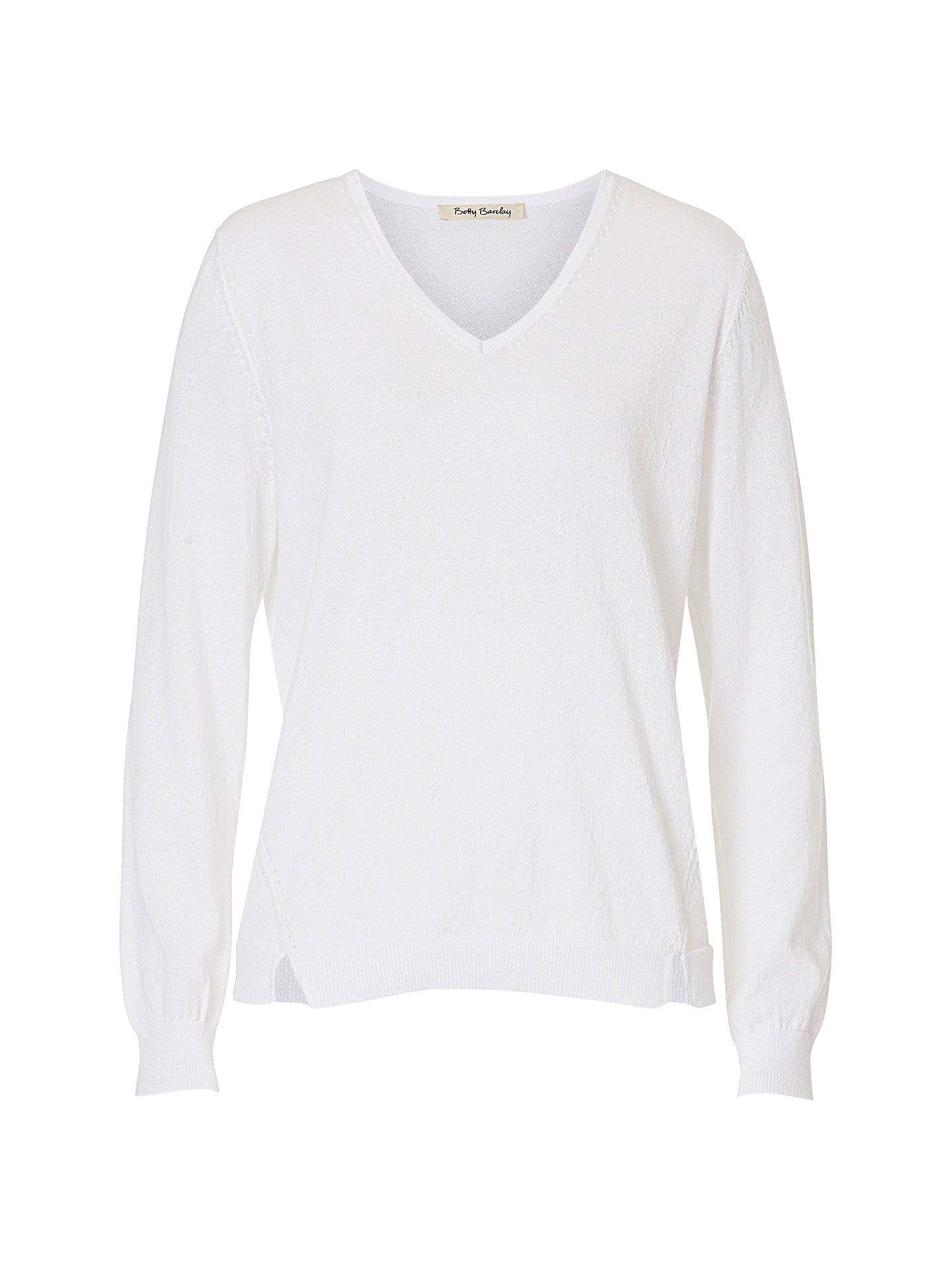 BuyBetty Barclay Fine Knit Embellished Jumper, Bright White, 10 Online at johnlewis.com