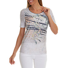 Buy Betty Barclay Embellished Print T-Shirt, Grey/Dark Blue Online at johnlewis.com