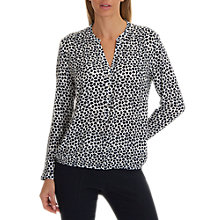Buy Betty Barclay Printed Blouse, Dark Blue/Cream Online at johnlewis.com