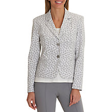 Buy Betty Barclay Printed Unlined Blazer, Grey/White Online at johnlewis.com