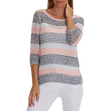 Buy Betty Barclay Candy Stripe Crochet Jumper, Multi Online at johnlewis.com