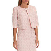 Buy Betty Barclay Textured Short Jacket, Rose/Cream Online at johnlewis.com