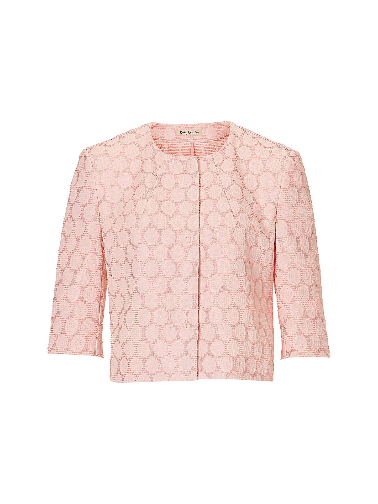 ... BuyBetty Barclay Textured Short Jacket, Rose Cream, 10 Online at  johnlewis.com a3f2c2aba3