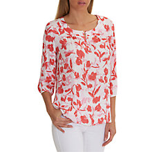 Buy Betty Barclay Floral Print Blouse, White/Red Online at johnlewis.com