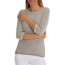 Buy Betty Barclay Ribbon Knit Jumper, Taupe/Cream Online at johnlewis.com