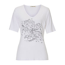 Buy Betty Barclay Embellished Motif T-Shirt, White/Grey Online at johnlewis.com