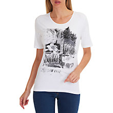 Buy Betty Barclay Embellished Motif T-Shirt, White/Black Online at johnlewis.com