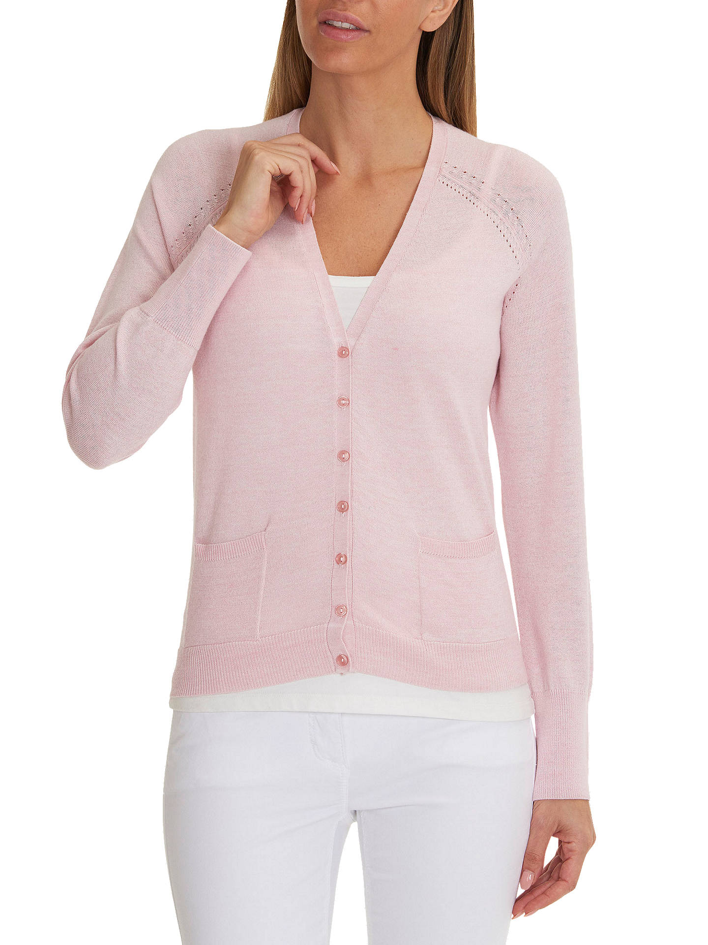 BuyBetty Barclay Fine Knit Cardigan, Wild Rose, 8 Online at johnlewis.com  ... 9238b04735