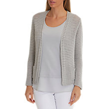 Buy Betty Barclay Metallic Knit Cardigan, Shiny Silver Online at johnlewis.com
