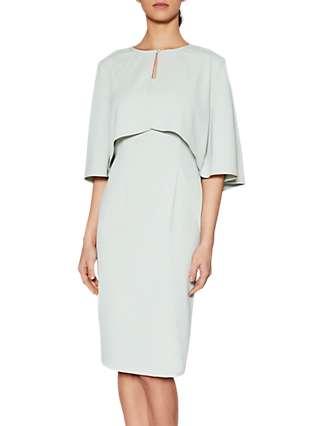 Gina Bacconi Moss Crepe Cape Jacket And Dress