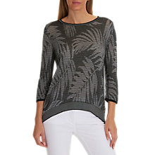 Buy Betty Barclay Fern Stitched Jumper, Black/White Online at johnlewis.com