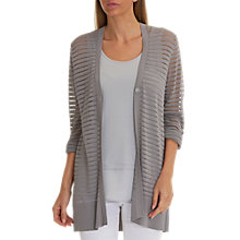 Buy Betty Barclay Long Rib Knit Cardigan, Cloud Grey Online at johnlewis.com