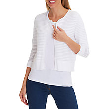 Buy Betty Barclay Crochet Knit Cardigan, Bright White Online at johnlewis.com
