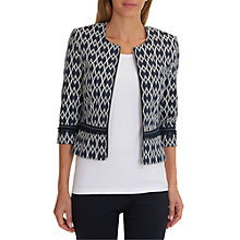 Buy Betty Barclay Short Textured Zip Jacket, Dark Blue/Cream Online at johnlewis.com