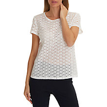 Buy Betty Barclay Broderie Anglaise Blouse, Off White Online at johnlewis.com