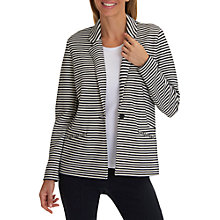 Buy Betty Barclay Striped Longline Jacket, Dark Blue/Cream Online at johnlewis.com